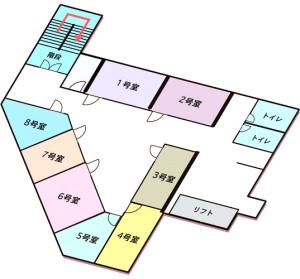 無門庭園2階見取り図