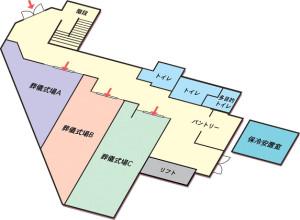 無門庭園1階見取り図